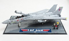 Top Gun display (Mad physicist) Tags: lego f14a usnavy tomcat topgun fighter maverick goose