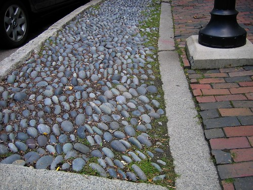 Grey Stones Along Street in Salem, MA
