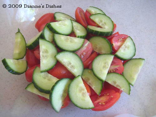 Bread Salad: Cucumbers
