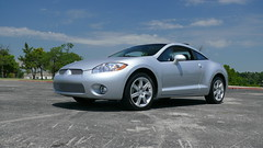 2007 Mitsubishi Eclipse GS (alanoftulsa) Tags: oklahoma sports car eclipse automobile g4 tulsa gt ok gs mitsubishi 4g liquidsilver grillcraft mitsubushi
