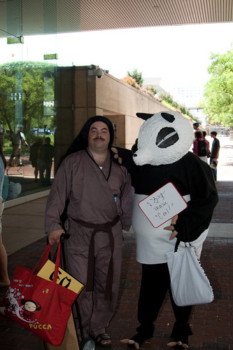 """Saotome, Why did you come to Otakon as a Panda?"""