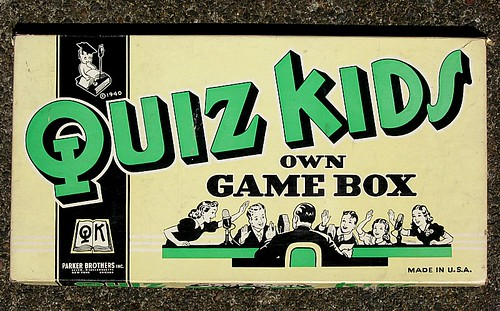 Quiz Kids game, Parker Brothers, 1940