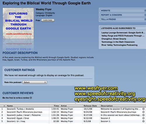 Exploring the Biblical World Google Earth on iTunes