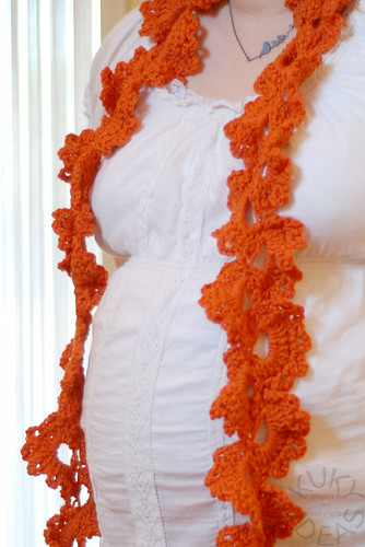 Lace scarf. I swore I blocked it.