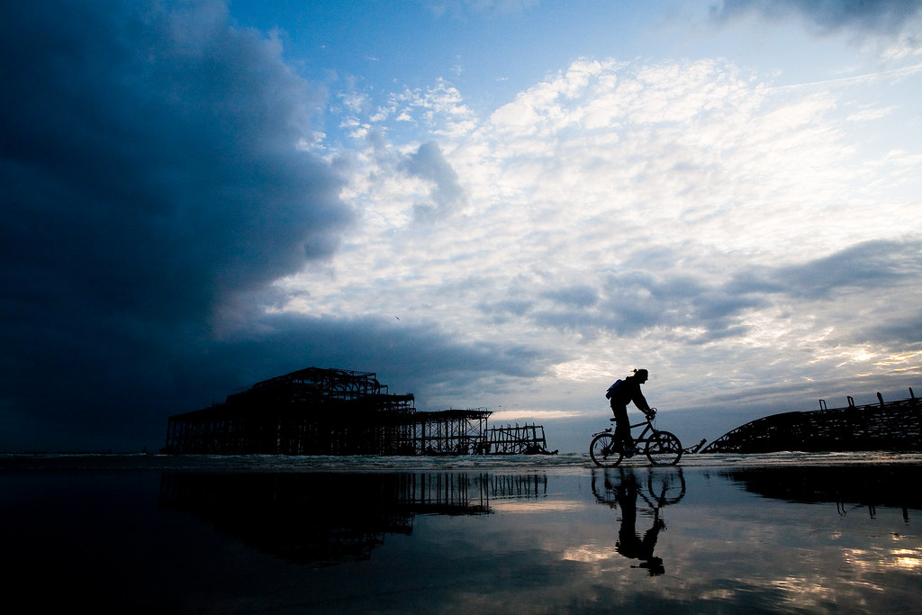 low tide biker