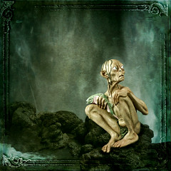 Gollum (~Brenda-Starr~) Tags: fish water photoshop rocks textures gollum lordoftherings texturesonly