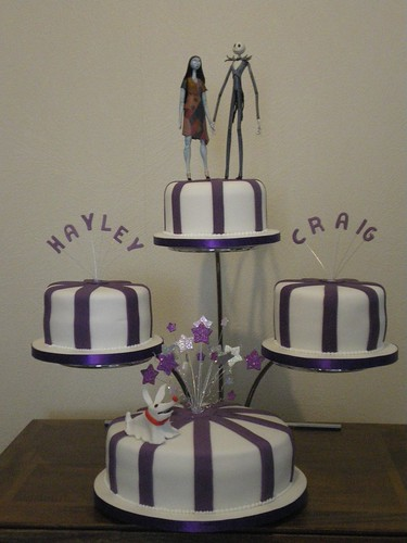 Nightmare before Christmas wedding cake Four tier wedding cake