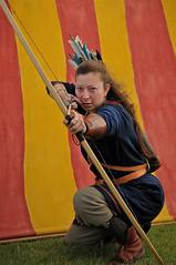 warrior archer (anniedaisybaby) Tags: costumes history helmet tent manitoba jewellery archer vikings gimli chainmail interlake cloaks historicalcostume icelandicfestival vikingvillage historicalreenactors