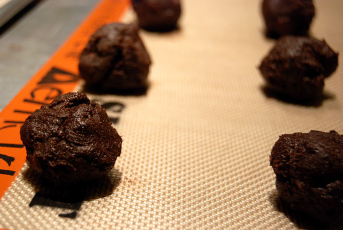 Dark Chocolate Cookies with Sour Cherries Dough