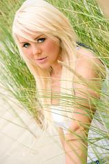 Vanessa (jordanvoth.com) Tags: ocean light vanessa woman white beach girl rain oregon hair photography log model sand nikon pretty natural tan jordan bikini blonde cannon vr 70200mm d300 voth
