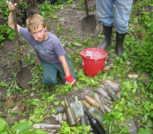 Glover boys dig bottles west of Warkworth Ontario