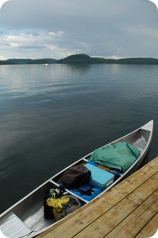 Packing the canoe