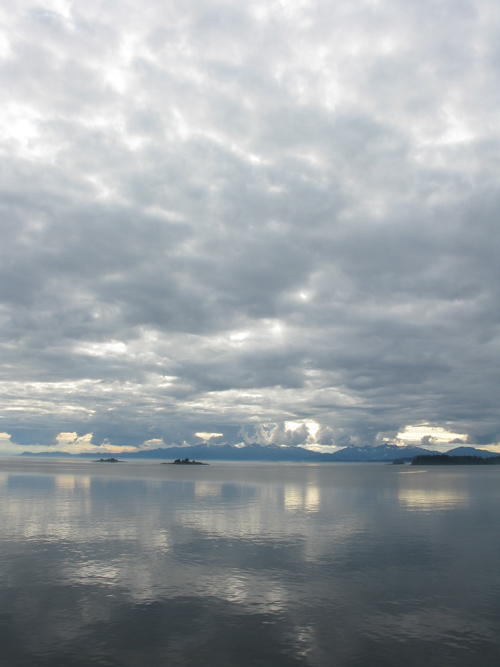 light through clouds in Stephens Passage, Alaska