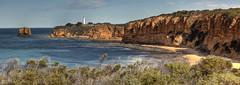 ILW (WilliamBullimore) Tags: panorama beach australia victoria cliffs granite greatoceanroad beacon aireysinlet estremità superstarthebest