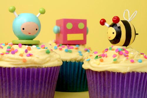 Cupcake Toppers por Bakerella.
