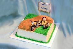 Moto X cake (Meghan's Cakes (on a cake break!)) Tags: birthday cake motorbike dirtbike