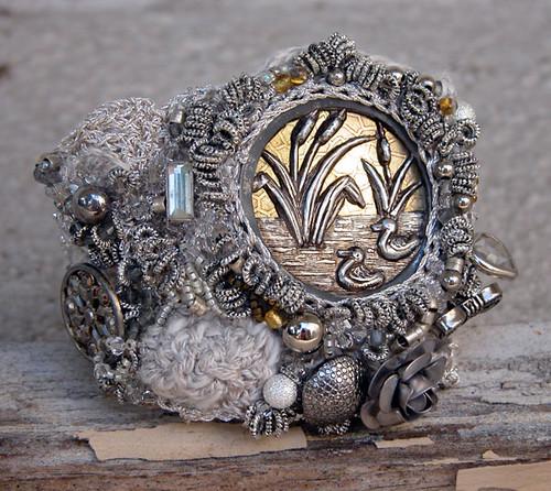 Silver & Gold Bracelet front