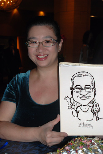 Caricature live sketching for The Law Society of Singapore - 4