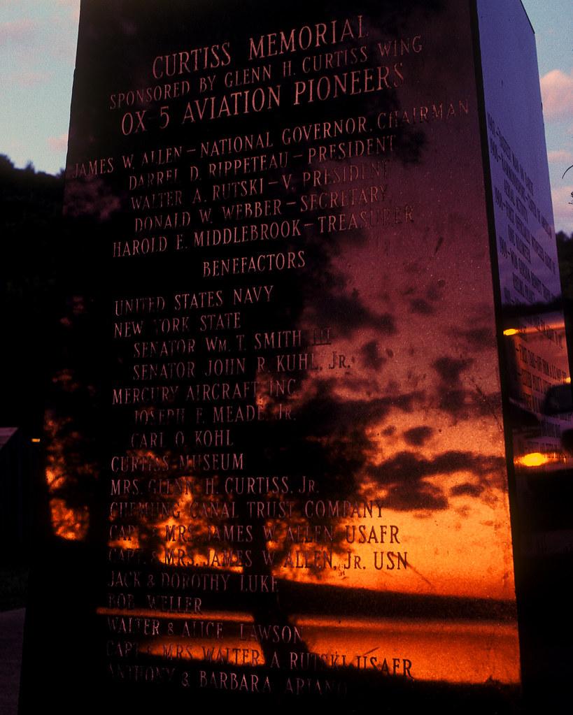 Sunrise at the Curtiss Memorial... Hammondsport