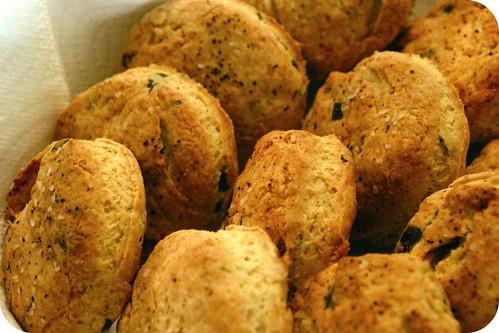 black pepper, chive buttermilk biscuits