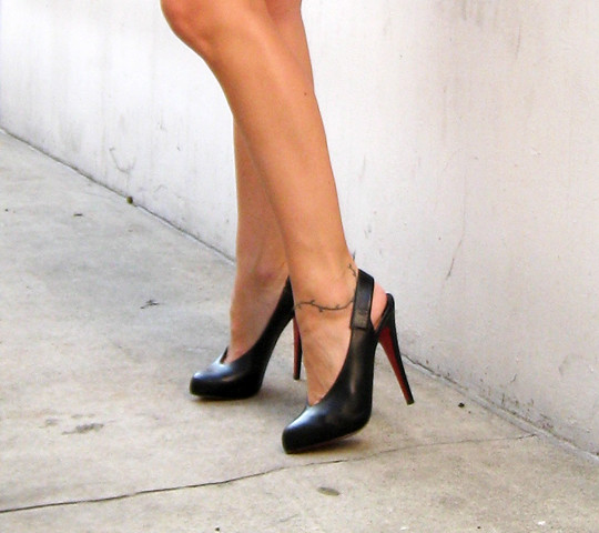 feet shoes heels slingbacks christianlouboutin