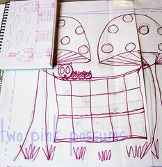 sketch (**tWo pInK pOSsuMs**) Tags: sketch thequiltproject