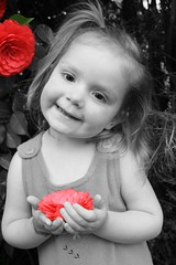 Willow (AdelePardy) Tags: flowers girls portrait beautiful smile kids pose eyes child play adele pardy adelep