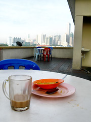 Empty Plate, Teh Tarik and KL Skyline