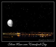 Silver Moon over Waterford City, Ireland. (John503) Tags: city moon silver waterford irishastronomy deiseastronomy