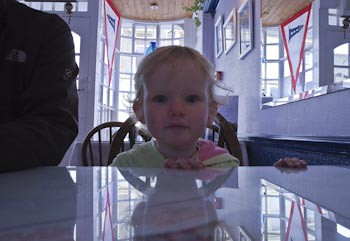 Rosie in the Lighthouse Cafe