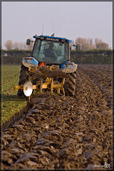 Plow (BraCom (Bram)) Tags: autumn brown tractor field rural flow farm country farming working move farmland till land worker produce farmer plow agriculture plowing cultivation agricultural prepare tracktor goereeoverflakkee cultivating furrow landbouw ploeg bracom
