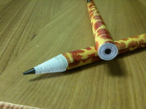 紙リサイクル鉛筆