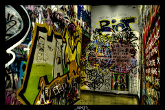 MALIX ! (_MrQ*s_ (Marcus)) Tags: light canada jaune nikon colours montreal tag explorer tripod corridor tags canadian explore hdr lightroom urbain graphitis grafitis 18200mm 3xp photomatix 18200vr d80 anawesomeshot mrqs anawersomeshot hdraward