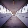 an arch-Footbridge (kymak) Tags: bridge geotagged hongkong arch footbridge naturallight velvia 香港 fujichrome rvp100f f35 75mm tsuenwan 荃灣 emptyperspective schneiderxenar3575 rolleiflex35a modelk4a automat6x6 mxtype2 geo:lat=22375575 geo:lon=11411469