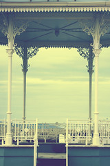 The Grand Band Stand (Michelle in Ireland) Tags: new blue sky white architecture clouds decorative step bandstand rebuilt dunlaoghaire onthepier redone remade