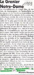 Le Grenier de Notre Dame - 1989 – Michèle Blacque