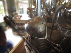 Heartshaped tea strainers