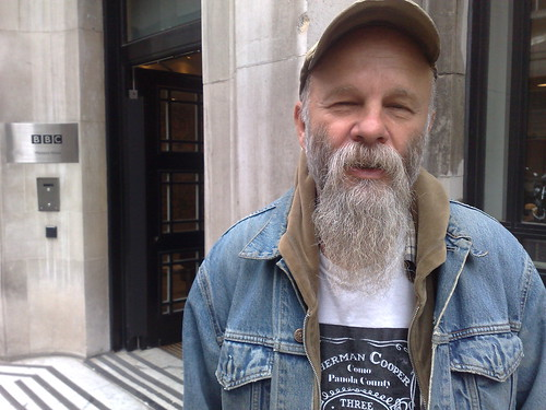 Seasick Steve outside the BBC's Western House in London