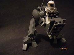NWA walker, front/side. ('Wrecks') Tags: gun lego hard machine suit walker wars nwa wrecks mech moc wreckslego