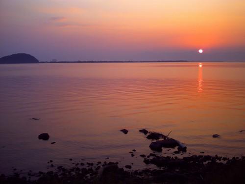 琵琶湖の夕焼け-18