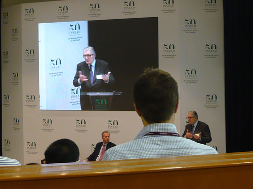 INSEAD Chairman and co-founder, Claude Janssen, speaking in the auditorium named after him!