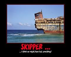 lost something (Hyperfinch) Tags: beach star fdsflickrtoys ship motivator fuerteventura shipwreck american wreck demotivator praktica americanstar bx20s vision1000 prakticabx20s hyperfinch