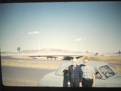 Dad and his dad, Thomas, 2928 N. Chestnut, Co Spgs CO, overlooking I-25, background. (Darrell L James) Tags: colorado coloradosprings chestnut fillmore i25 chestnutst fillmorest