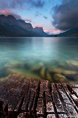 St. Mary Sunrise (DanielEwert) Tags: st mary lake sunrise emerald green water picture mountains range wild nature photography clouds light ewert daniel goose trees clear best landscape fine art montana natural