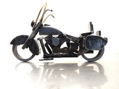 Custom Motorcycle Sculpture Harley Davidson Heritage Softail Classic by Josh Welton