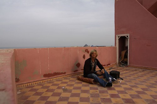 Brekkie on top of Majestic Hotel, Essaouira.