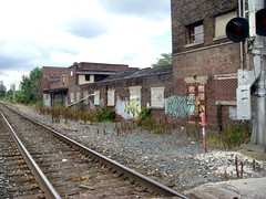 the district's now-abandoned railroad corridor (photo courtesy of AIA)