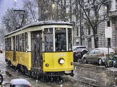 aspettando la neve... (fotopierino) Tags: italy milan canon italia milano tram neve atm lombardia hdr binari a720 fotopierino