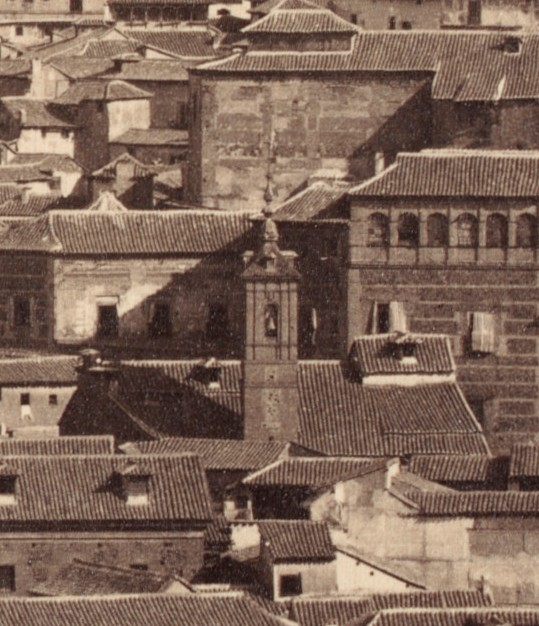 Iglesia de San Lorenzo en 1857. Foto Charles Clifford (detalle)