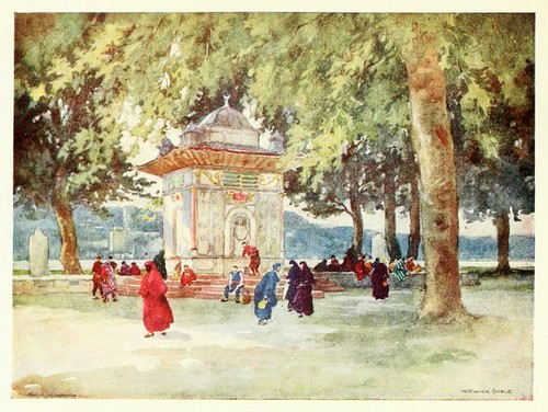 017- Una fuente en el Bosforo- Constantinople painted by Warwick Goble (1906)